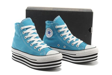 light blue high tops 2013 converse chuck all platform high