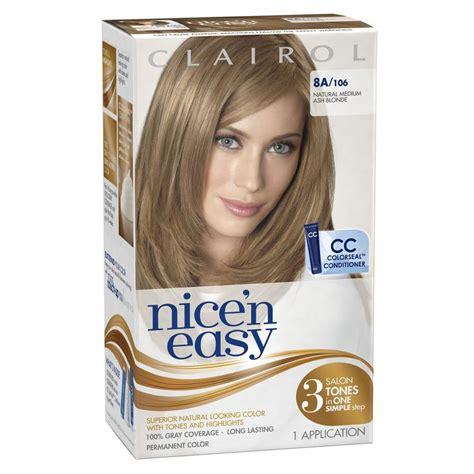 best home coloring hair kit clairol n easy hair color 106 medium ash 1 kit pack of 3 packaging may