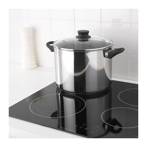 Ikea Annons annons pot with lid glass stainless steel 10 l ikea