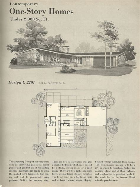 vintage home floor plans vintage house plans 1960s homes mid century homes for