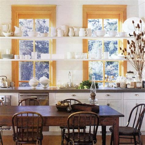 Kitchen Window Decor Ideas Open Kitchen Shelves And Stationary Window Decorating Ideas
