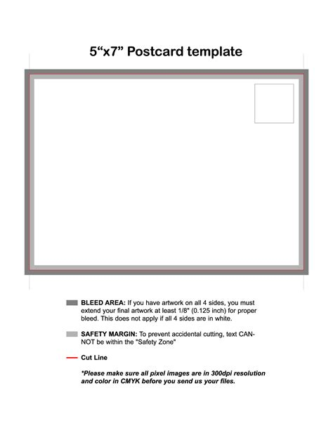 5 x 7 card template 5 x 7 postcard template images