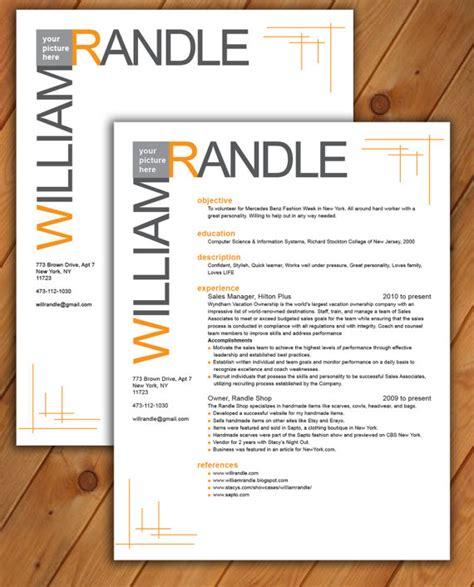 custom resume templates custom resume and cover letter template line pattern by
