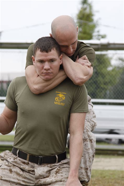 Sleeper Choke Hold by To Marines Wayne Day Gives Spouses Inside Look