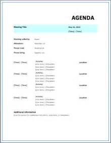 agenda template free formal meeting agenda template free template downloads