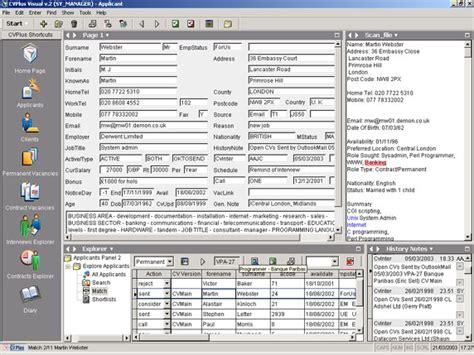 recruiting database template recruitment software elec intro website