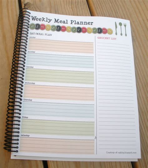pretty printable meal planner 8 best images of cute printable meal plan free meal plan