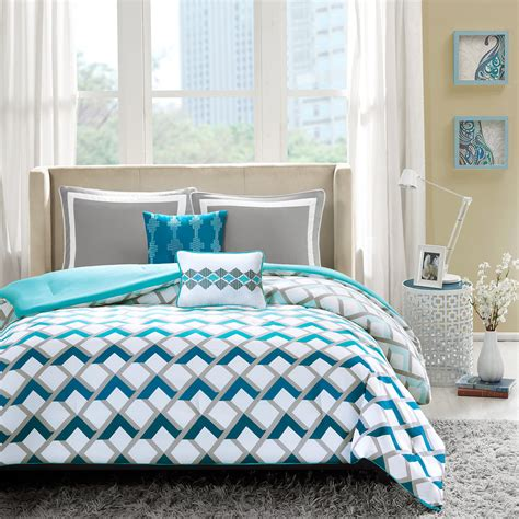 gray and blue comforter blue and grey bedding