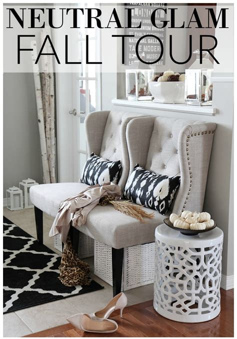 glam home decor neutral glam fall tour and fall decor ideas setting for four