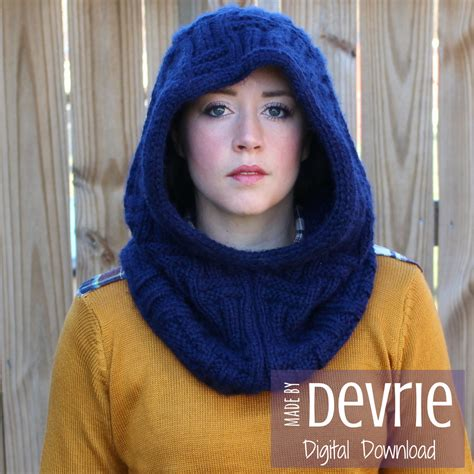 how to knit a hooded cowl digital knit knit pattern knit cowl