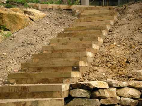 Retaining Sleepers by Sleeper Retaining Walls Bluegum Landscapes