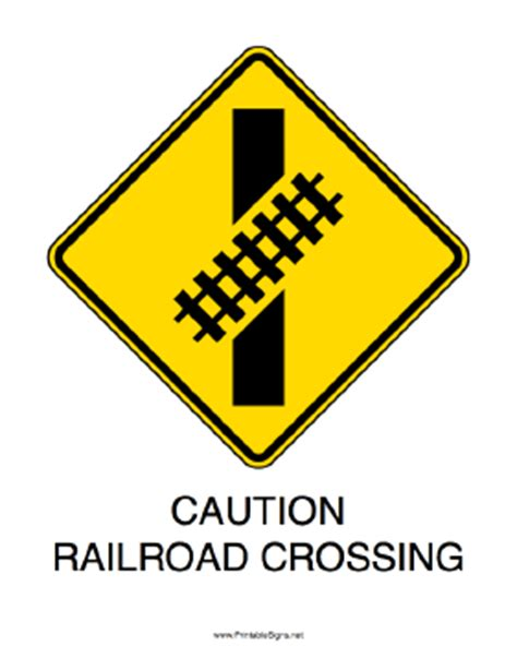 printable railroad signs 6 best images of printable railroad signs train railroad