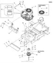 simplicity 5900662 zt3000 series w 50 quot mower zt3000b2450 parts diagram for engine