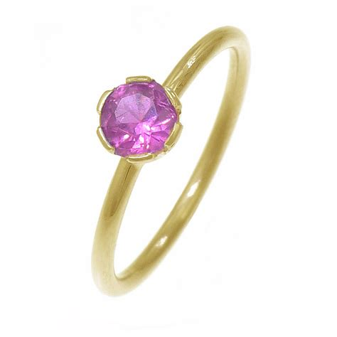 birthstone stacking ring in 18ct gold by lilia nash