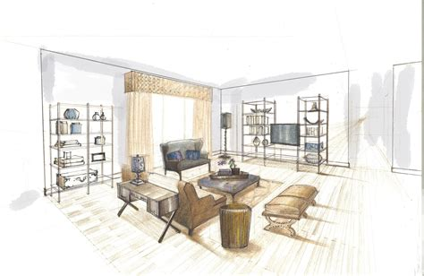 interior design renderings search sketches