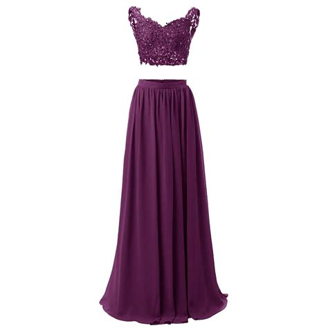 floor length two dress featuring chiffon a line