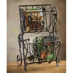 wrought iron vineyard magazine rack by toscana