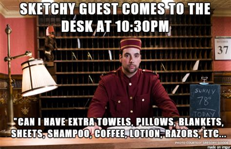 weekend front desk 10 hilarious hotel memes about the hotel front desks