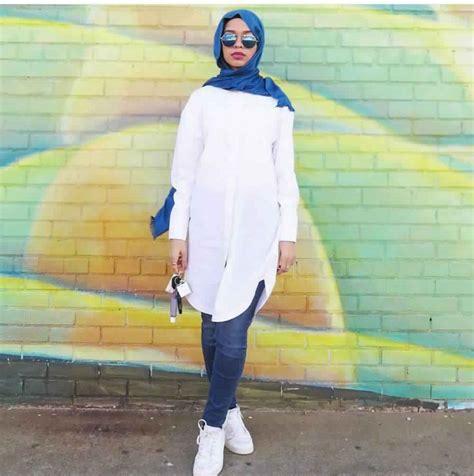 idees de style hijab avec jeans slim pour vous