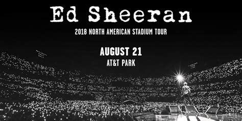 ed sheeran us tour 2018 ed sheeran 2018 north american stadium tour 99 7 now