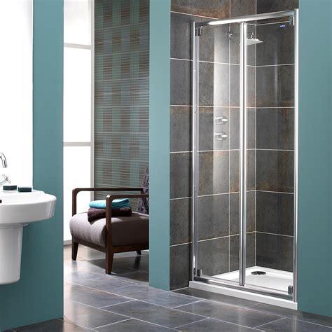 Shower Door Supplies Showerlux Glide 8mm Glass Bi Fold Shower Door 1000mm