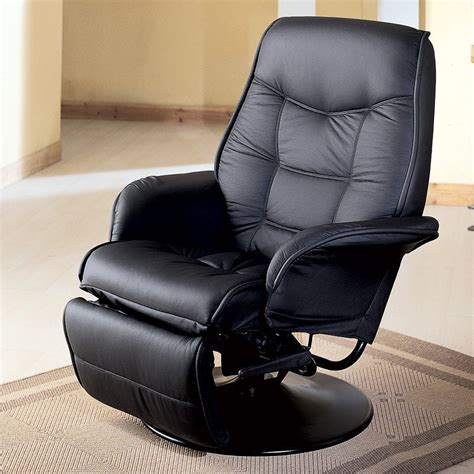 fine leather recliners shop coaster fine furniture black faux leather swiveling