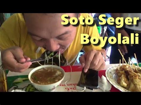 indonesian street food  soto seger boyolali youtube