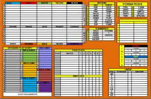 Offensive Play Call Sheet Template best photos of blank football play sheet template