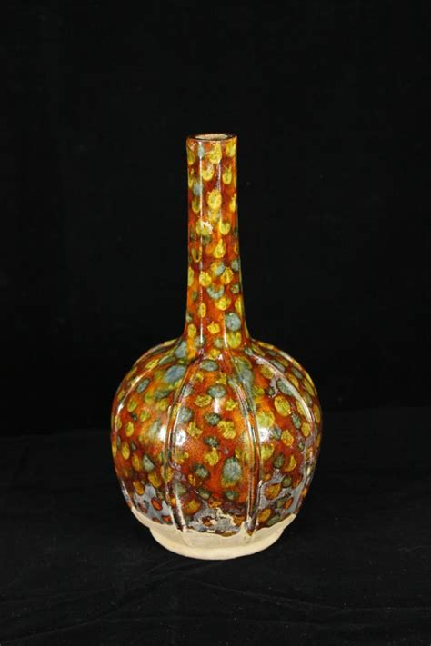 Tang Dynasty Vase by Tang Dynasty Pottery Tri Color Vase