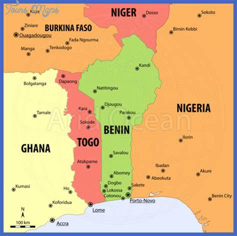 benin on the map benin map toursmaps