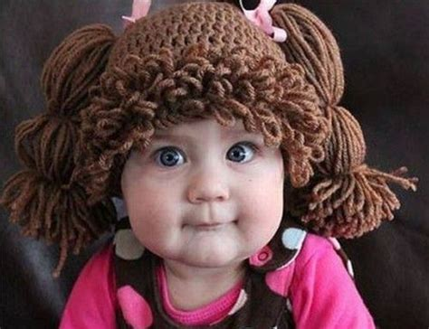 knitted hat looks like cabbage cabbage patch kids inspired knit hats funny love