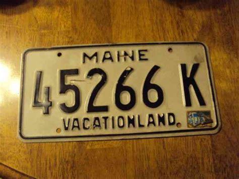 Kansas Vanity Plates 1988 Maine License Plate 45266 K