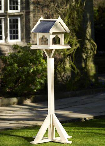 painted wooden bird table  posh garden furniture