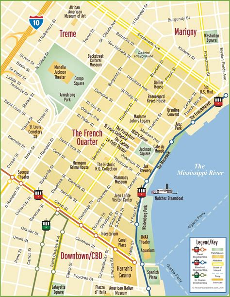 printable french quarter new orleans maps new orleans french quarter map