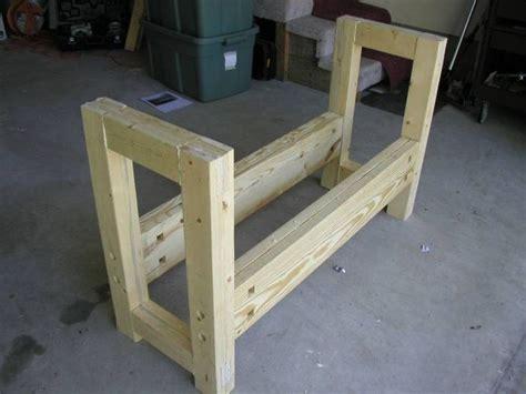 completed workbench base  angle diy garage