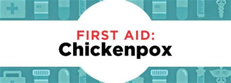 First Aid Chickenpox