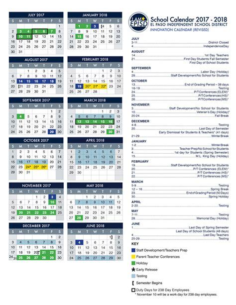 El Calendar Calendars Episd Vocal