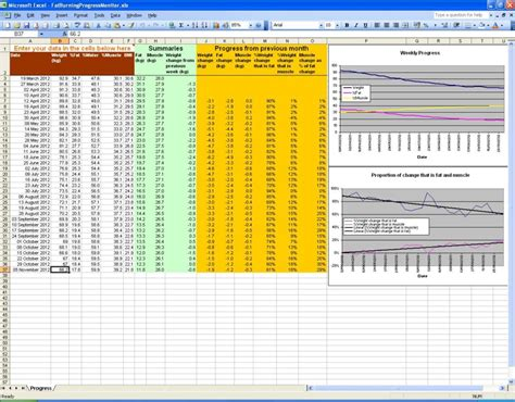 weight loss spreadsheet best of weight template weight loss diary