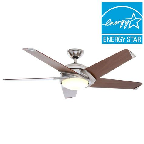 54 casablanca stealth ceiling fan casablanca stealth dc 54 in indoor brushed nickel led