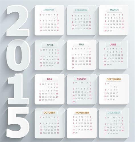 rk design calendar 2015 free flat white 2015 calendar vector titanui