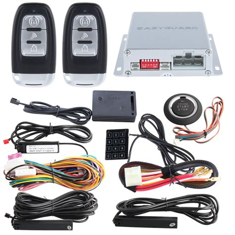 Alarm Motor Smart Key rolling code smart key pke car alarm system remote engine start stop auto central locking push