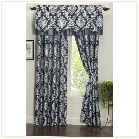 Navy And Grey Curtains Navy Blue Gold Gray Geometric