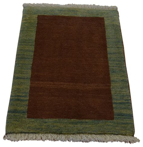 Chocolate Brown Area Rug Gabbeh Chocolate Brown 100 Wool Knotted Rug Sh18996 Traditional Area