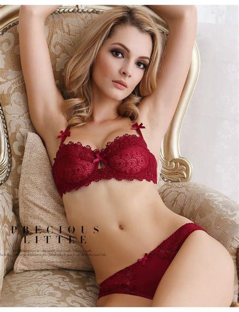 Bra Set Braset Lace Lingeri Wanita comfortable transparent lace bra sets