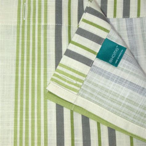 grey green curtains target home green stripe gray ivory fabric shower curtain