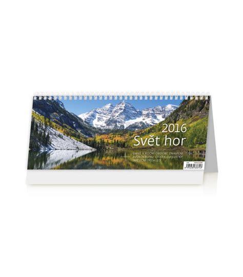 Table Calendar 2016 Table Calendar Svět Hor 2016
