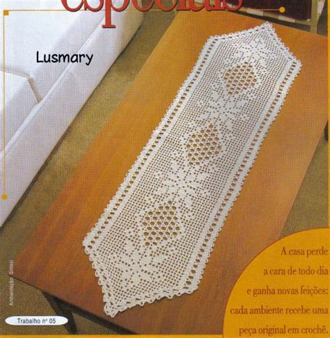 camino de mesa a crochet 3 patrones de caminos de mesa en crochet filet crochet y
