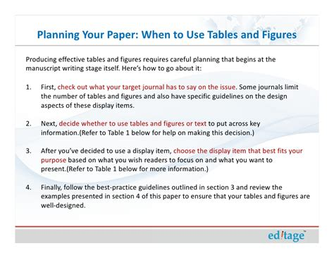 Figure How To Your how to use figures and tables effectively to present your