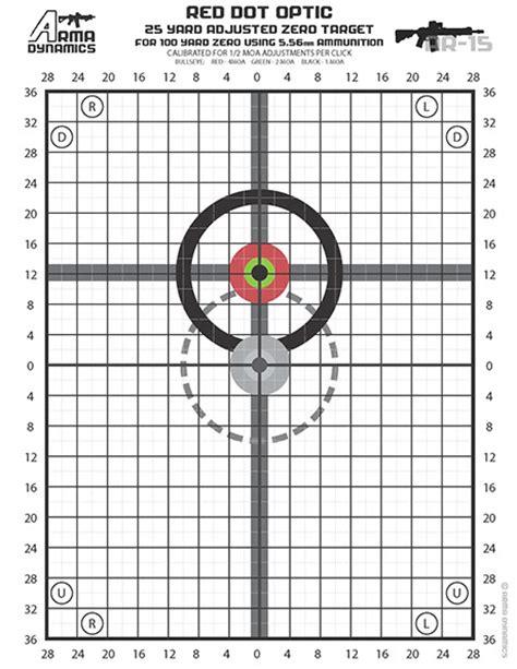 printable rifle zeroing targets ar 15 50 yard zero target newhairstylesformen2014 com