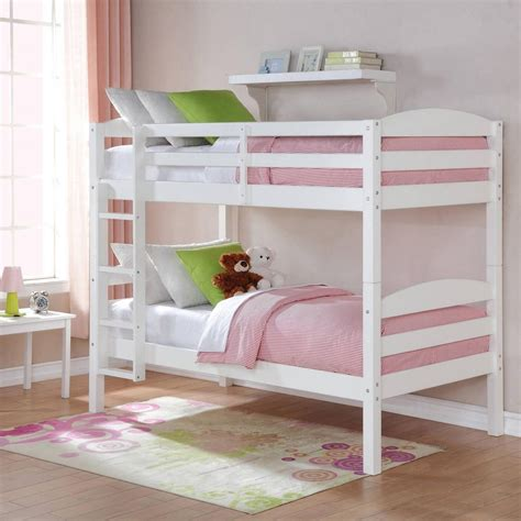 double deck bed white twin over twin double deck bed wood bunk bed with